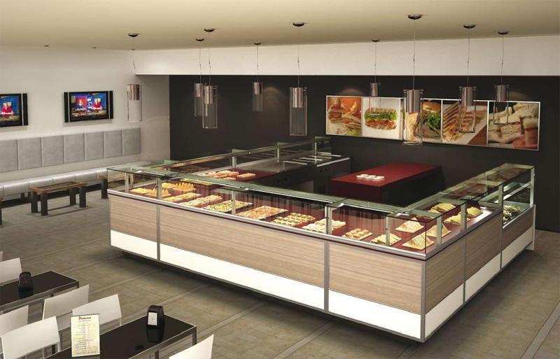 Wyposa enie kawiarni cukierni lodziarni megar for Arredamento pizzeria moderno